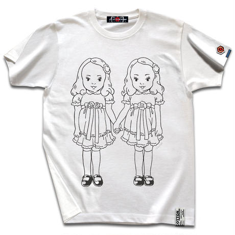 THE OVERLOOK TWINS T-SHIRTS/Vanilla White