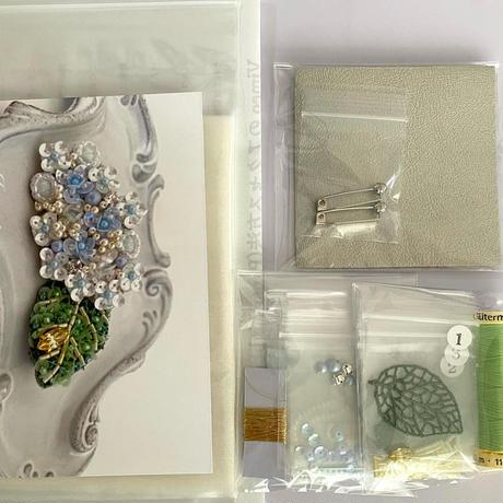 Hydrangea (アジサイ)brooch kit
