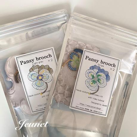 Pansy Light gray brooch kit