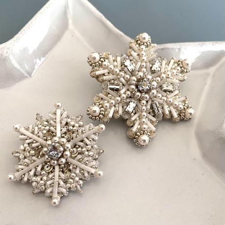 Snow crystal brooch kit