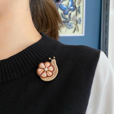 Snail(カタツムリ)brooch kit