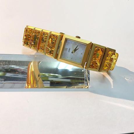 リトアニアの天然琥珀腕時計