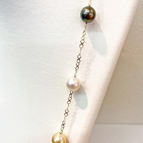 K18パール(南洋真珠•タヒチ真珠)ネックレス