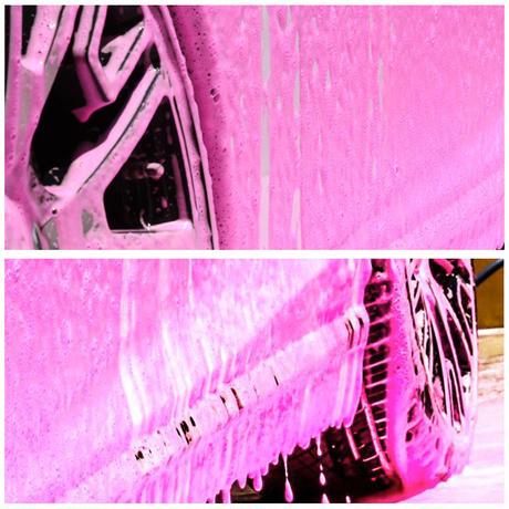 スパシャン SPASHAN エンジェルワックス ANGELWAX バブルガム(赤:香り付き)ファストフォーム FASTFOAM カーシャンプー 洗剤 1000ml 1L