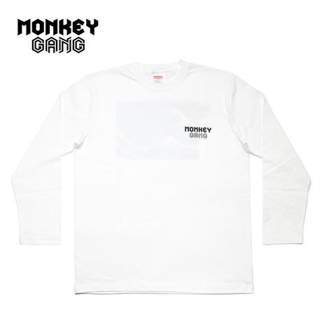 MONKEY GANG WAVEデザイン ロングTシャツ ホワイト M~XXL アパレル メンズ レディース