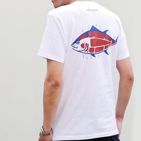 カネス商店 マグロデザイン Tシャツ ホワイト M~XXL アパレル メンズ レディース