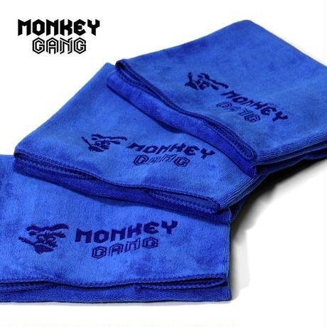 MONKEY GANG ブルーモンキータオル 水滴/ワックス拭き取り用 3枚入り
