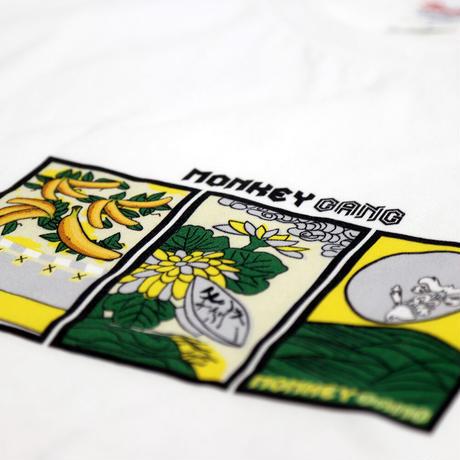 MONKEY GANG 花札daytimeデザイン Tシャツ ホワイト M~XXL アパレル メンズ レディース