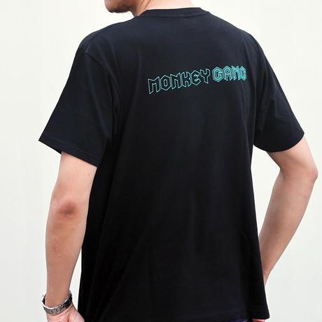 MONKEY GANG モンキーシャドー デザイン Tシャツ ブラック M~XXL アパレル メンズ レディース