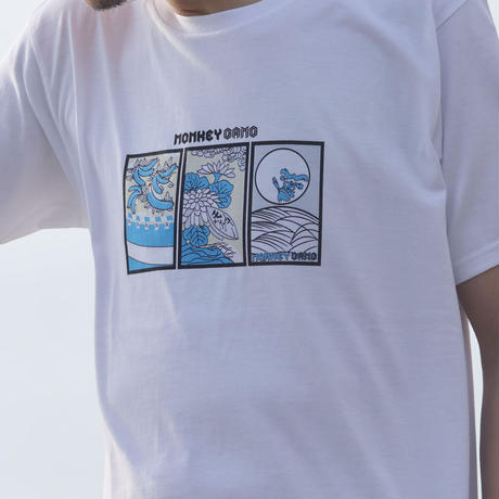 MONKEY GANG 花札nightデザイン Tシャツ ホワイト M~XXL アパレル メンズ レディース