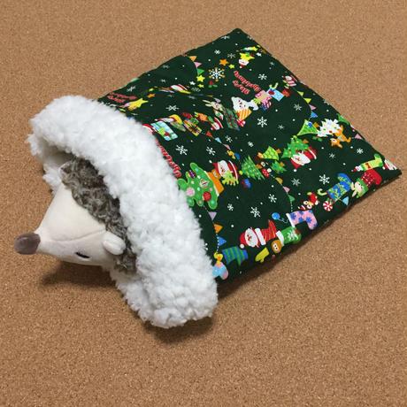 ハリネズミのためのクリスマスなお布団【グリーン】