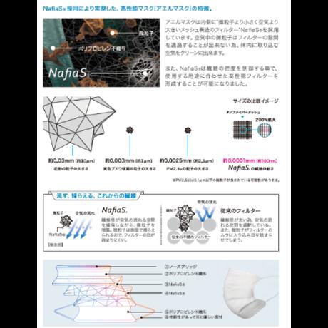 【送料無料】ナフィアス「NafiaS」アエルマスク「aerumask」信州大学繊維学部共同開発 PFE99%(日本製)