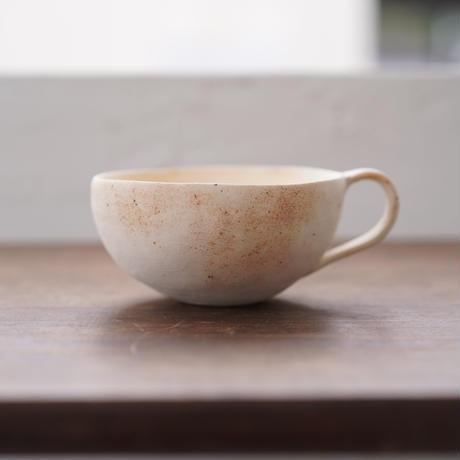 32-1 水谷智美 炻器 ティーカップ 素色