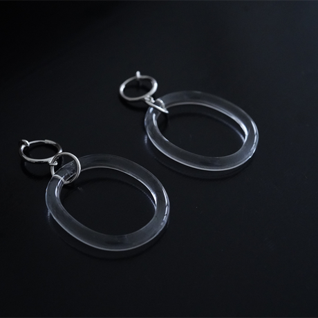BELLEZA Glass Jewelry  yuragiイヤリング