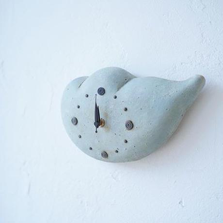 陶時計 雲の時計 水色