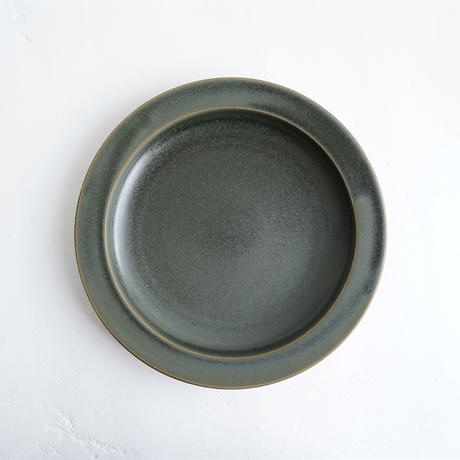 N▶400 エヌ・ヨンヒャク  7寸丸リム皿 green