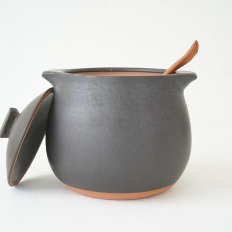 馬場勝文 10-2  耐熱スープポット(大) 黒