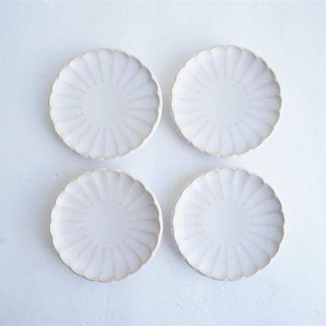 N▶400 エヌ・ヨンヒャク No.19 B しのぎ小皿 white