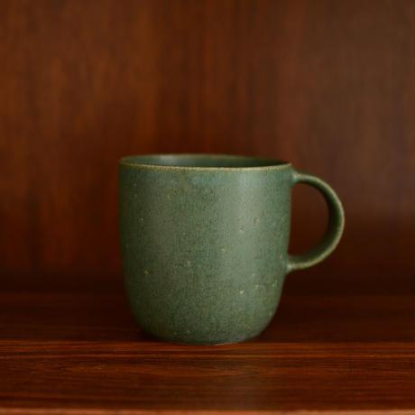 寺嶋綾子 マグカップ(大・緑)