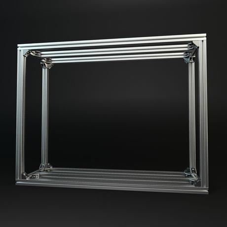 Jigsoma Aqua stand ジグソーマ アクアスタンド W900×D450×H700 下段フレーム有り+ ウレタン塗装天板(ローラー) 上下段セット