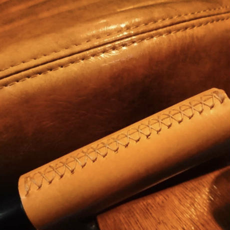 ブラウン本革カバー《JB64/74型用ハンドブレーキ用》
