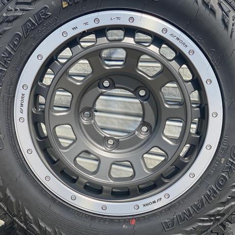 ジムニー用ホイールタイヤセット(リサイクル品)WORK CRAG T-GRABIC16×5.5J+20 YOKOHAMA GEOLANDAR M/T195R16 4本セット