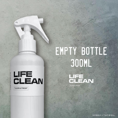 LIFE CLEAN 300ml EMPTY BOTTLE