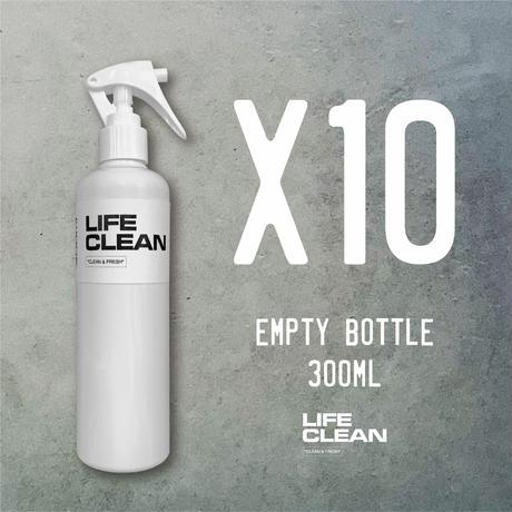 LIFE CLEAN 300ml EMPTY BOTTLE 10本セット