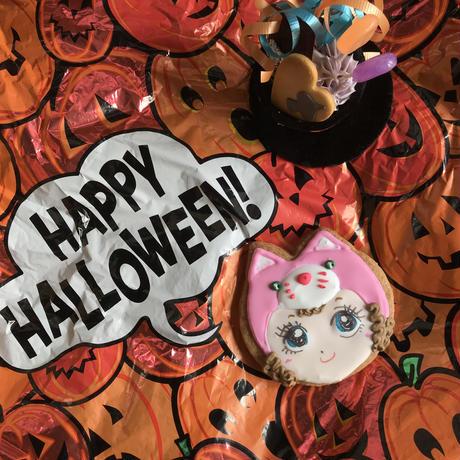 ハロウィンいたずら子猫アイシングクッキー