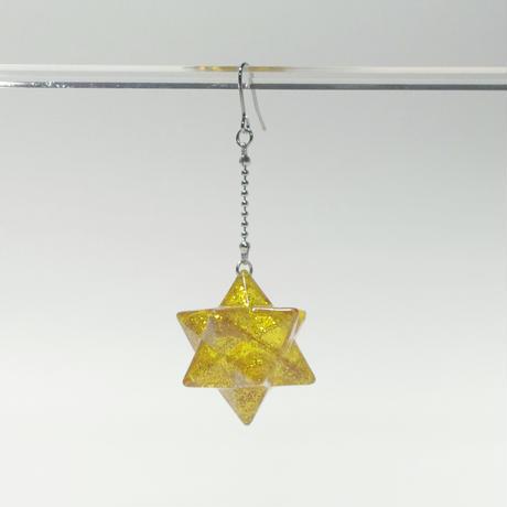 小星型十二面体のピアス
