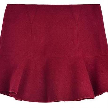 毛織フレアスカート