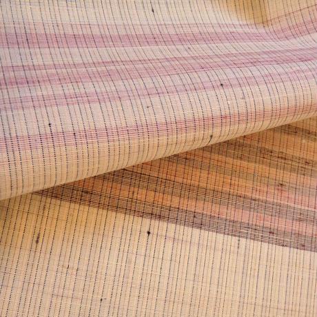 ピンク横段紬