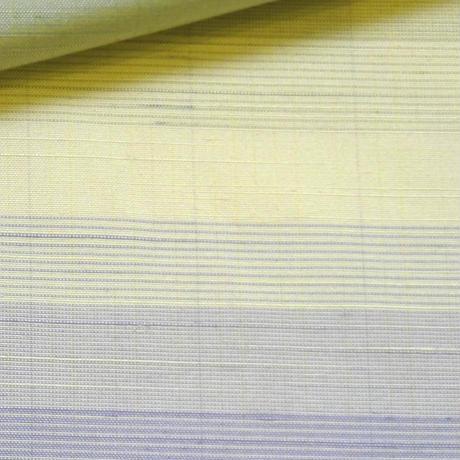 単衣向き紬 横段縞