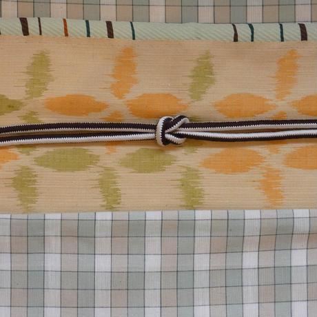 ほぐし織捺染絣名古屋帯 平谷悠律子作