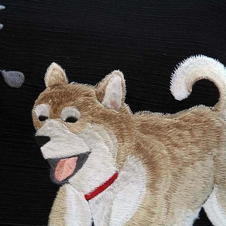 仕立上がり名古屋帯 柴犬