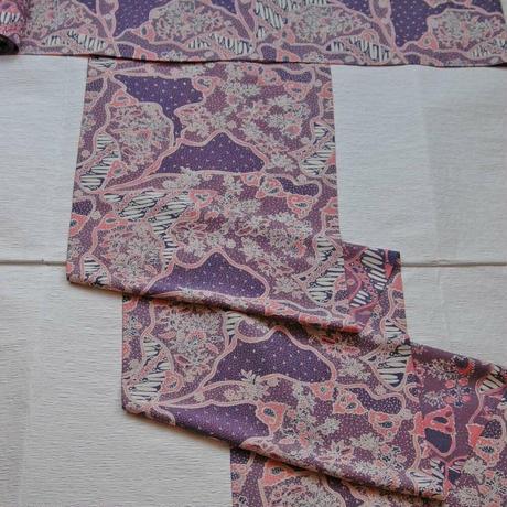 【定価283800円】名古屋帯 ジャワ更紗 ピンク紫