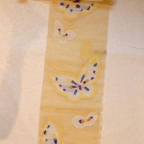 帯屋捨松 粗紗八寸 蝶