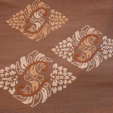 刺繍八寸帯 変わり花菱