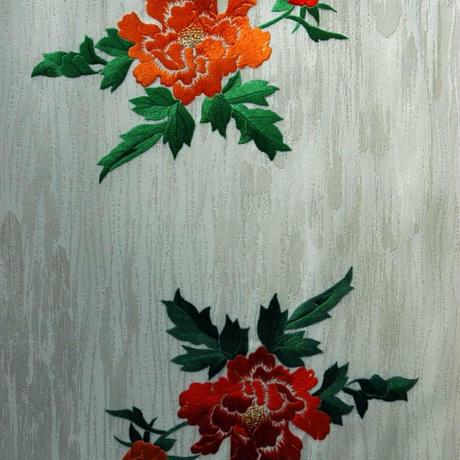 刺繍袋帯 唐獅子牡丹