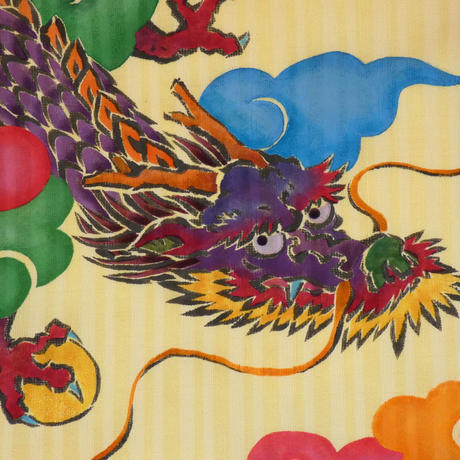 染帯 竜神型絵染九寸名古屋