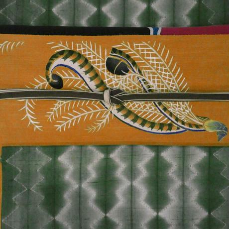 型絵染帯 コトドリ