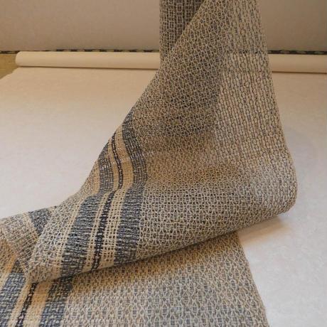 苧麻 もじり織八寸帯