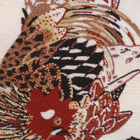 【仕立込6割引き!】相良刺繍袋帯 鶏図