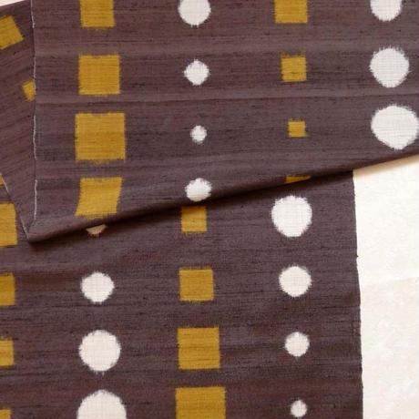 【定価217800円】手紡ぎ糸紬  丸と四角