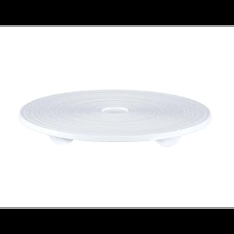 [ J.L Coquet - ジャン・ルイ・コケ ] < Hémisphère - エミスフェール >   ラウンドプレート  20.5cm  ホワイトサテン