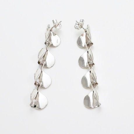 Earrings ONDAS Silver 06-ピアス【受注商品】