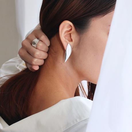 Earrings GESTO Silver 01-ピアス【受注商品】