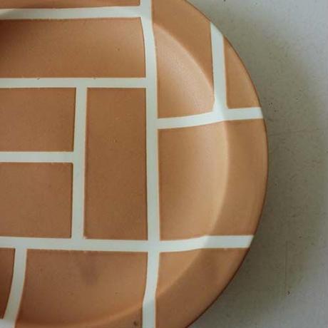 ★10月15日販売開始★ 18cm モンドリアン リムプレート(オレンジマット)