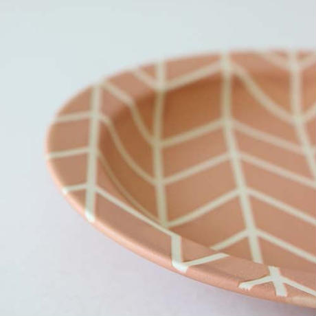 ★10月15日販売開始★ 18cm  フォレスト リムプレート (オレンジマット)