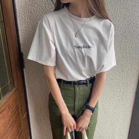 シンプルロゴTシャツ